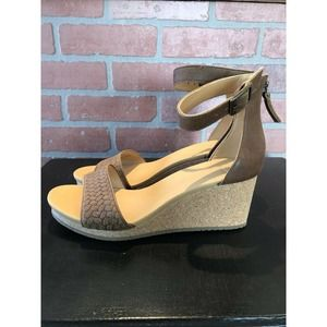 Roots Womens Cranston Ankle Strap Wedge Sz 9